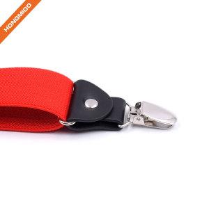 Classical X-Back Design Mens Colorful Polyester Shirt Garter Suspender Belts