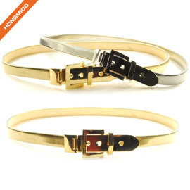 Hongmioo New Plate Wide Full Metal Pin Buckle Belt