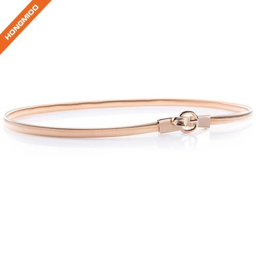 Hongmioo Thin Alloy Metal Waist Stretch Belt Ladies