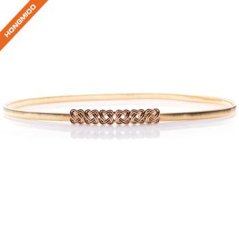 Ladies Leisure Metal Skinny Waist Belt Without Buckle