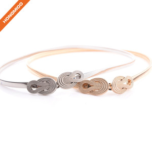 Fashion Durable Metal Skinny Retro Belt For Ladies