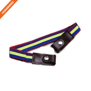 Fashion Solid Color Press Button Boy Elastic Belt