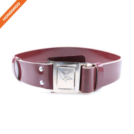 Small Size Boy Metal Buckle PU Belt For Dress