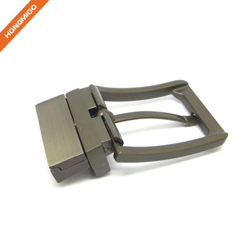Daily Uniform Rotated Mens Metal Buckles Smoothly Reversible Buckle