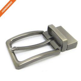 1 2/5 Inch (35 mm) Reversible Clamp Gunmetal Brush Belt Buckle