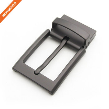 Men Black Metal Single Prong Clamp 35mm Belt Replacement Buckle