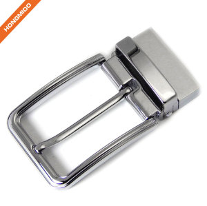 Shining Rotated Mens Metal Buckle Clamp Gunmetal Replacement Buckle