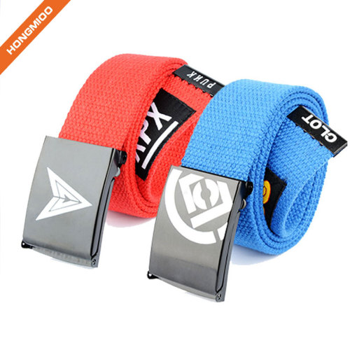 Metal Alloy Buckle Colorful Kids Belt Boys With Your Logo