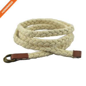 Hongmioo Skinny Double Buckle White Children Rope Belt