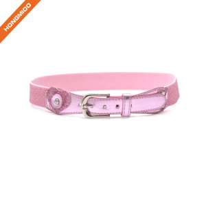 Fashion Design Metal Pin Buckle Pink Girl Belt