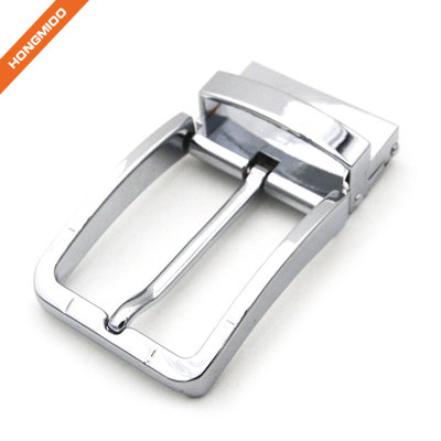 Mens Shining Square Design Zinc Alloy Rotated Buckles