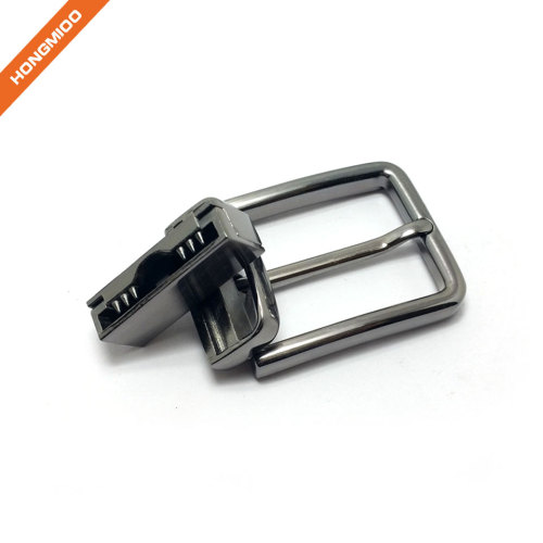 Nickel Free Silver Color Finish Rotated Buckles Zinc Alloy Mens Buckles