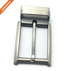 Square Design Adjustable Mens Rotating Buckle 3.5cm Silver Color Finish Buckle