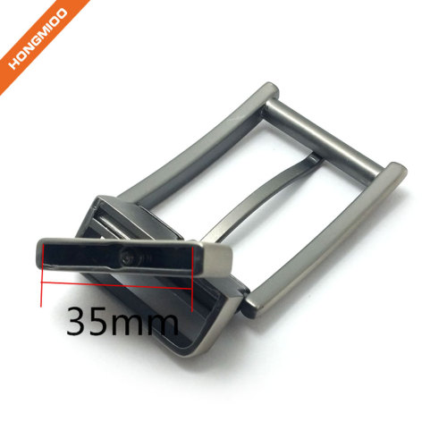 Square Design Adjustable Mens Rotating Buckle 3.5cm Silver Color Finish Buckle