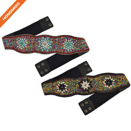Handmade Women Bohemian Beaded Body Obi Waist Belts