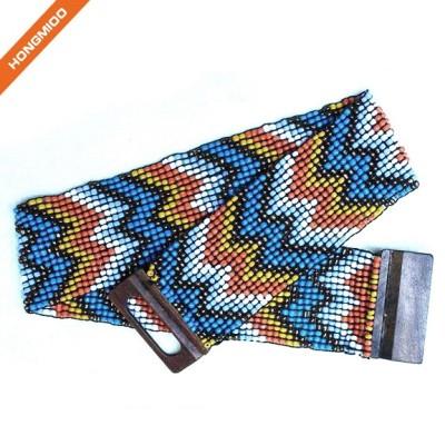 Wide Elastic Stretchy Beaded Belt Fashion Accessory Skirt Sash Belts