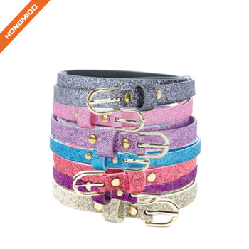 Hongmioo Make Colorful Girl Skinny Ultra Sparkly Belt