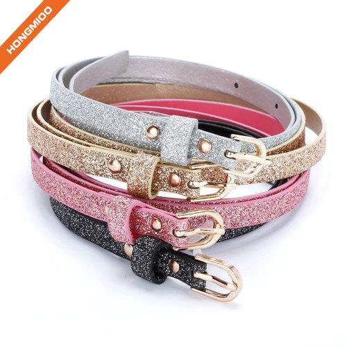 Hongmioo Make Colorful Girl Skinny Ultra Sparkly Belt