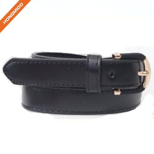 Any Color Single Stitch Pink Girls Wide Belt With Ring