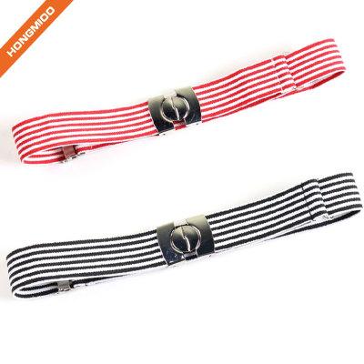 Assorted Color Interlock Girl's School Uniform Belt