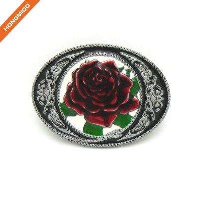 Vintage Rose Decorative Western Belt Buck