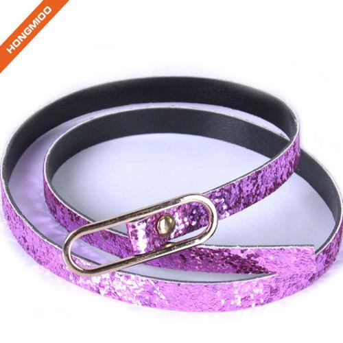 Factory Directly Sale Kids Skinny Decorative Glitter Dress Fine Belt