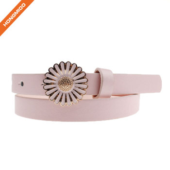 Fashion Girl Pink Decorative Flower Buckle Belts
