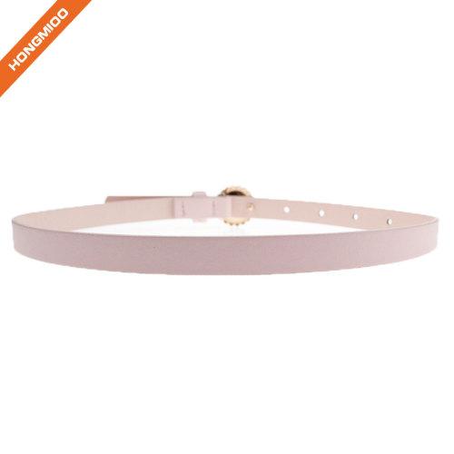 Fashion Girl Pink Decorative Flower Buckle Belts