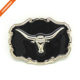 Texas Cowboy Long Horn Bull Large Western Buckles