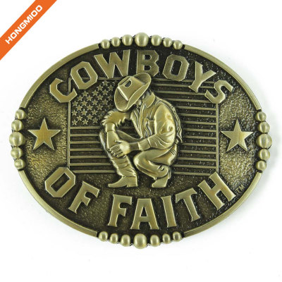Texas Cowboys of Faith Western Buckles