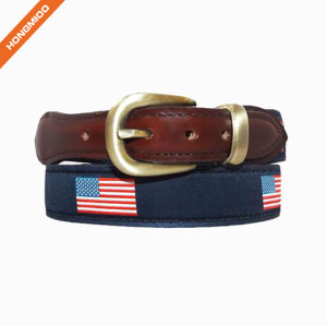 Vivid Fish Pattern Design Retro Split Leather Mens Ribbon Belts