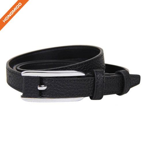 Custom Black Textured Pin Buckle Boy Belt From China