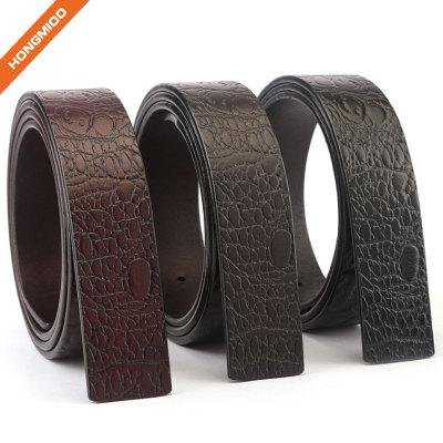 New Product Sliding Buckle Full Grain Leather Belt Strap
