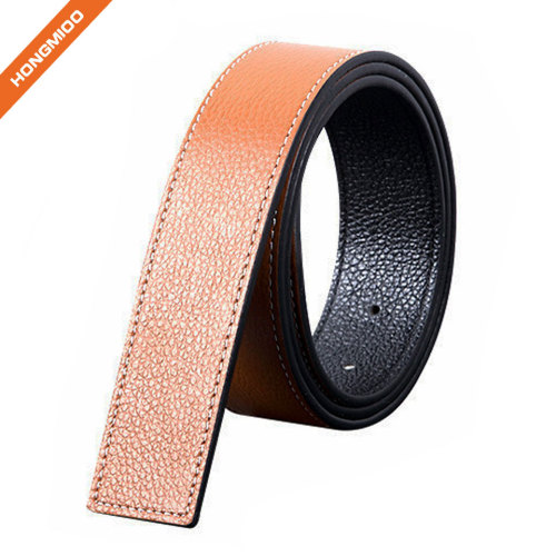 3.8CM Width Mens Top Layer Leather Belt Strap With Teeth