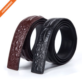 3.8cm Full Grain Leather Mens Dress Belt Strap Factory