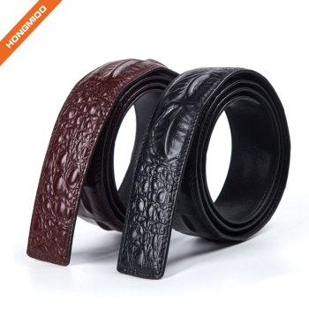 3.8cm Full Grain Leather Mens Dress Belt Strap Factory