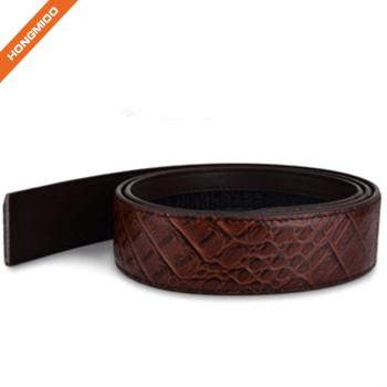 Mens Casual Crocodile Pattern Cowhide Leather Belt Strap