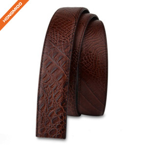 Mens Casual Crocodile Pattern Cowhide Leather Belt Strap
