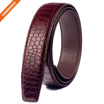 Young Stone Textured Full Grain Leather Automatic Buckle Belt Strap