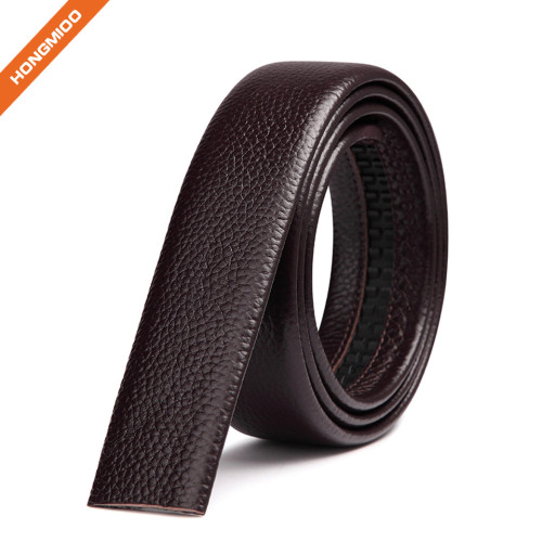Soft Touch Italy Brown Full Grain Leather Belt Without Buckle