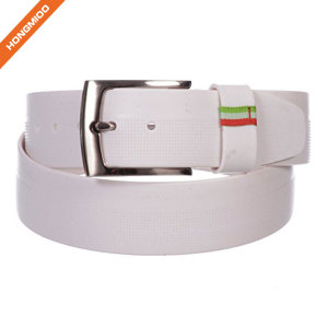 Fancy Color Men's Pin Buckle Silicone Belt