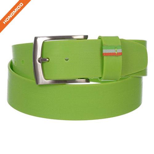 Fancy Color Men's Pin Buckle Silicone Belt