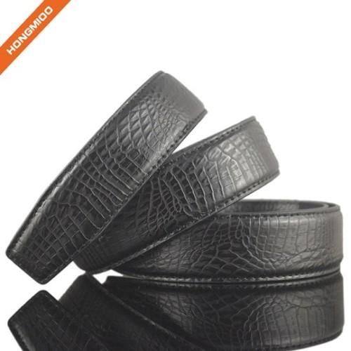 Luxury Crocodile Pattern 100% Real Leather Mens Automatic Waist Belt Straps