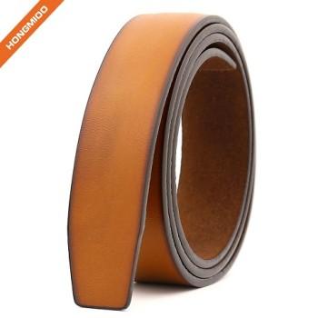Fashion Design No Stitch Popular Split Leather Customized Ratchet Belt Strap