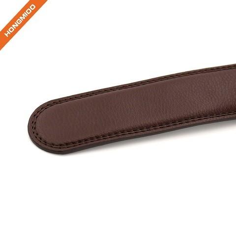 Men's Split Leather Belt Strap Slide Ratchet Belt Not Include Buckle