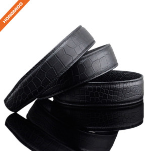 Mens Luxury Crocodile Pattern Top Grain Leather Belt Strap
