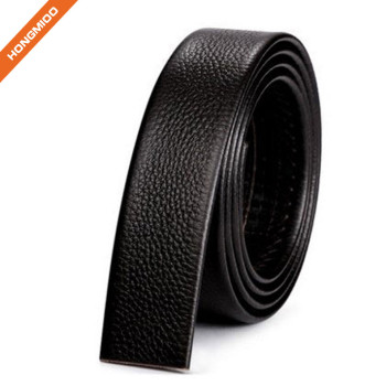 Cheap Men Fine Full Grain Leather Belt Without Buckle