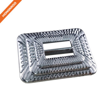 China Fashion Custom Silver Square Plastic Belt Buckle