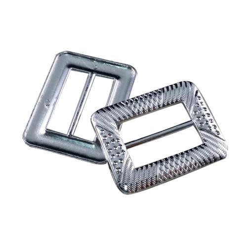 China Fashion Custom Silver Square Plastic Belt Buckle