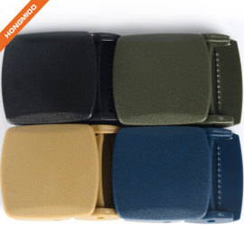 Environmental Protection Various Color Plastic Fabric Ratchet Belt Buckle